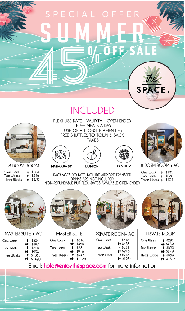 the SPACE 45% off Packages